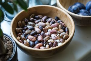 Image shows a bowl of kidney beans.